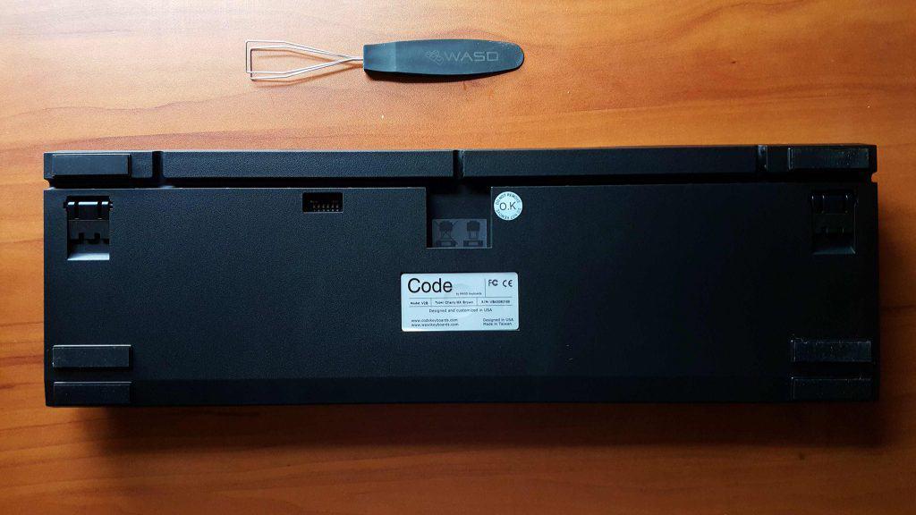 rear of CODE keyboard