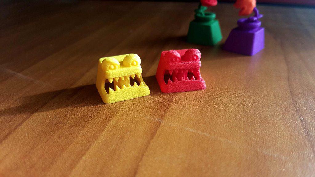 3D printer keycap monsters