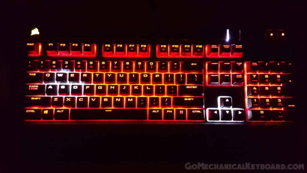Corsair STRAFE lit up