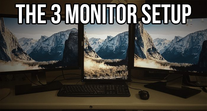 three monitor programming display