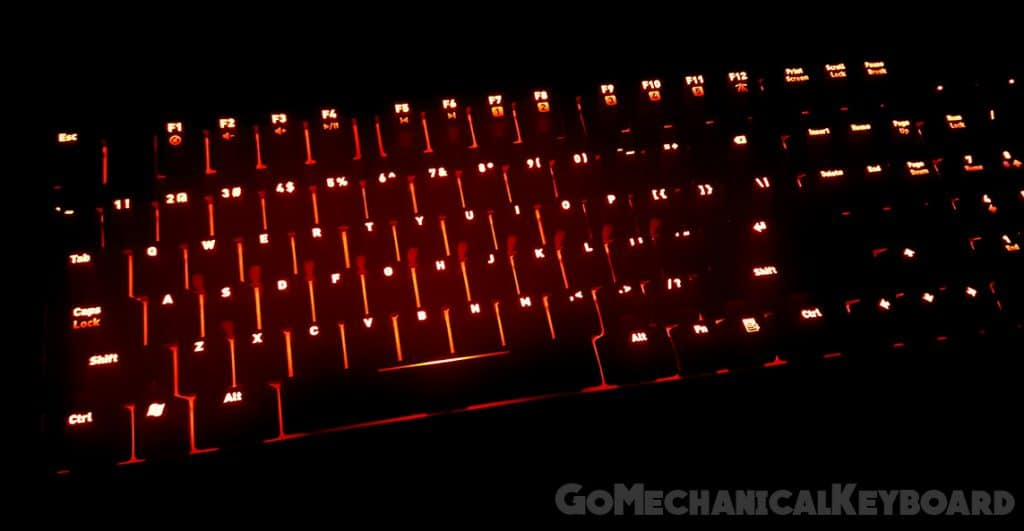 fnatic rush red backlighting