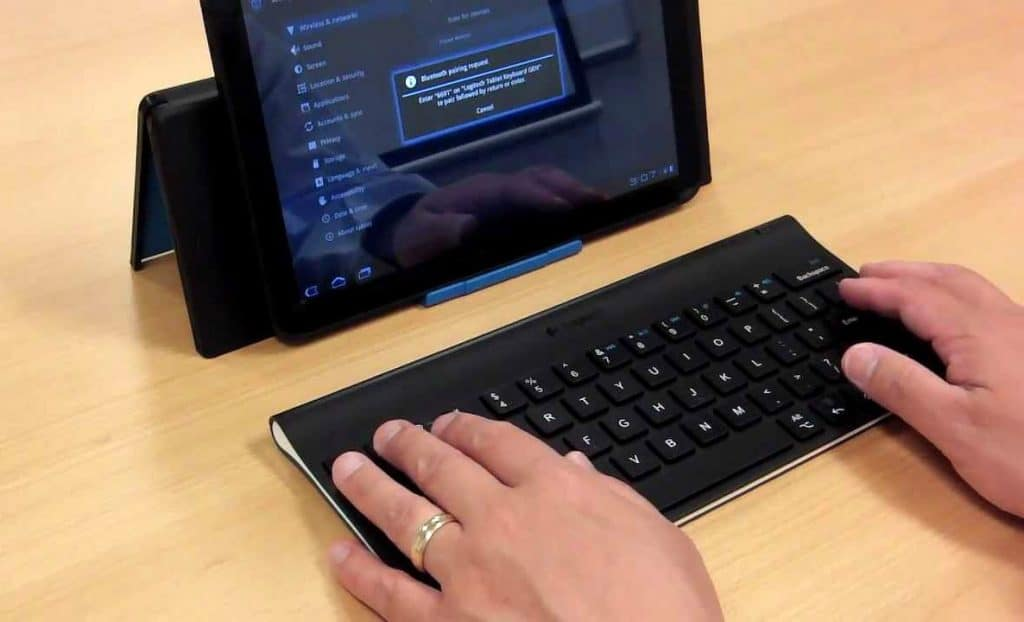 tablet typing keyboard
