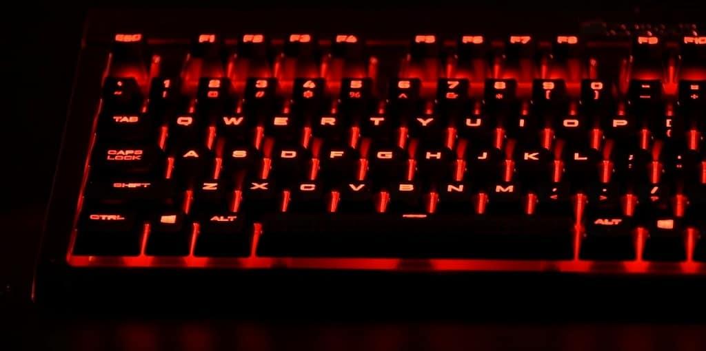 Corsair Keyboard Spill